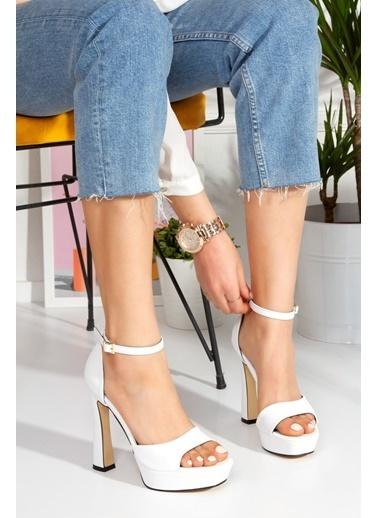 Derithy Astrea Topuklu Ayakkabı-Ten-Byc1801 Beyaz